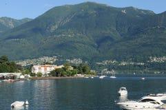 Ascona на Lago Maggiore известно для туристов стоковая фотография