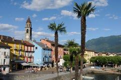 Ascona на Lago Maggiore известно среди швейцарских и немецких туристов стоковое фото rf