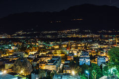 Ascona Aerial, Switzerland. Aerial view of Ascona city in the canton of Ticino, Switzerland. Photo taken on: April 08th, 2014 stock photography