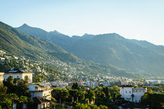 Ascona Aerial, Switzerland Stock Photo
