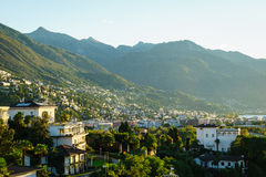 Ascona Aerial, Switzerland Stock Photography