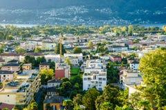 Ascona antena, Szwajcaria Zdjęcia Royalty Free