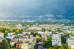 Ascona antena, Szwajcaria Zdjęcie Stock
