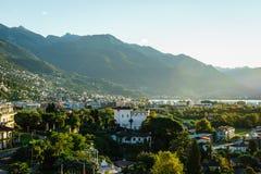 Ascona antenn, Schweiz Royaltyfria Foton