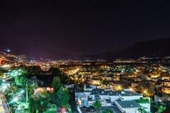 Ascona-Antenne, die Schweiz Stockfotografie