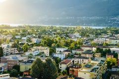 Ascona-Antenne, die Schweiz Lizenzfreies Stockfoto