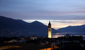 Ascona blue hour Royalty Free Stock Images