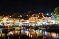 Ascona na noite, Suíça Foto de Stock