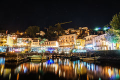 Ascona at night, Switzerland Stock Photo