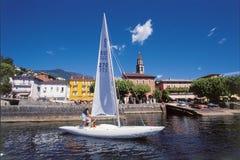 Ascona przy Lago Maggiore jest sławny dla szwajcara i internationa zdjęcie royalty free