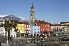 Ascona (Suisse) - baie d'Ascona photographie stock libre de droits