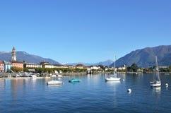 Ascona, Switzerland. Ascona across Maggiore lake, Switzerland royalty free stock image