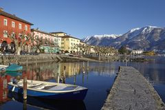 Ascona (Switzerland) - Bay of Ascona Royalty Free Stock Photos