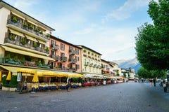 Ascona, Switzerland. Ascona city in the canton of Ticino, Switzerland. Photo taken on: April 08th, 2014 royalty free stock images