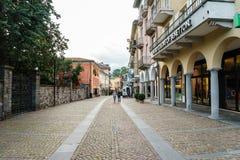 Ascona, Switzerland. Ascona city in the canton of Ticino, Switzerland. Photo taken on: April 08th, 2014 stock images