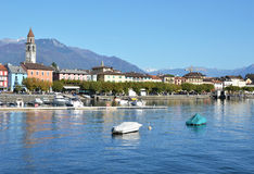 Ascona, Switzerland. Famous Swiss skiing resort stock photos