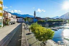 Ascona, Switzerland. Ascona on Lake Maggiore in the canton of Ticino, Switzerland. Photo taken on: April 03rd, 2014 stock photos