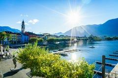 Ascona, Switzerland. Ascona on Lake Maggiore in the canton of Ticino, Switzerland. Photo taken on: April 08th, 2014 royalty free stock photography