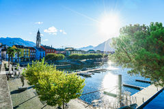 Ascona, Switzerland. Ascona on Lake Maggiore in the canton of Ticino, Switzerland. Photo taken on: April 08th, 2014 royalty free stock images