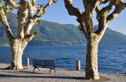 Ascona, Ticino, Meer Maggiore, Zwitserland Royalty-vrije Stock Foto
