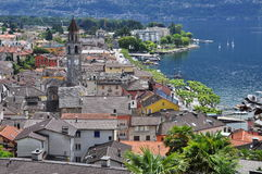 Ascona, Ticino, Switzerland. General view. Royalty Free Stock Images