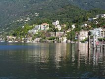 ASCONA travel city in SWITZERLAND with scenic view of beauty Lake Maggiore Royalty Free Stock Image