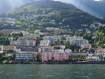ASCONA travel city in SWITZERLAND with scenic view of Lake Maggiore. ASCONA travel city in SWITZERLAND with scenic view of beauty Lake Maggiore at canton of Royalty Free Stock Photos