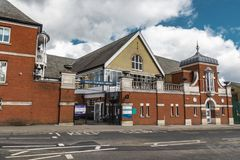 Ascot Durning Library. Ascot, England - March 17, 2019: Street view of the library of the town of Ascot, famous for its horse racing worldwide stock photos