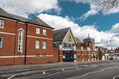 Ascot Durning Library. Ascot, England - March 17, 2019: Street view of the library of the town of Ascot, famous for its horse racing worldwide stock images