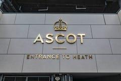 Ascot-Pferderennstrecke Heath Entrance stockbild