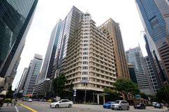 Ascott莱佛士坊新加坡 免版税库存照片