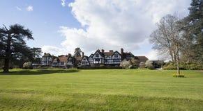 Ascott议院正面图在白金汉郡英国 库存照片
