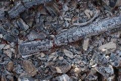 Ascua del fuego Las cenizas Textura del fondo fotos de archivo libres de regalías