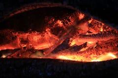 Ascuas del fuego fotografía de archivo libre de regalías