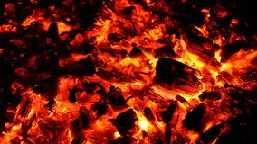 Ascuas y cenizas del fuego grande almacen de video