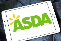 Asda stores logo. Logo of the international chain of convenience stores asda on samsung tablet Stock Images