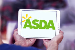 Asda stores logo. Logo of the international chain of convenience stores asda on samsung tablet Stock Photography