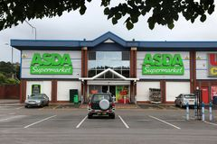 Asda supermarket Arkivfoto