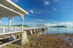 Asdang白海桥梁, Sichang海岛,芭达亚, Th地标  库存照片
