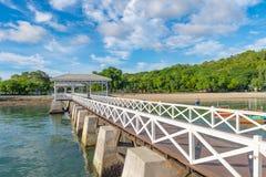Asdang white sea bridge at Sichang island, Pattaya, Chonburi, Th Stock Photos