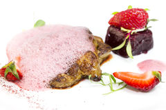 Ase el hígado de ganso Foto de archivo libre de regalías