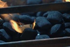 Ase a la parilla el fuego Fotografía de archivo