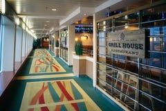 Ase a la parrilla el restaurante de la casa, transbordador báltico de la travesía de la reina Imagen de archivo