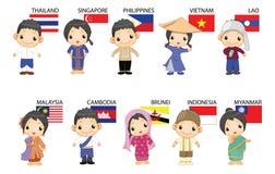 ASEAN κινούμενων σχεδίων Στοκ Φωτογραφίες