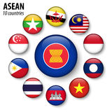 ASEAN  Association of Southeast Asian Nations  and membership . Royalty Free Stock Images