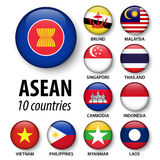 ASEAN  Association of Southeast Asian Nations  and membership . Royalty Free Stock Photography