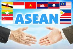 ASEAN, Association of Southeast Asian Nations. Union of countries of Southeast Asian region. ASEAN, Association of Southeast Asian Nations. International union stock images