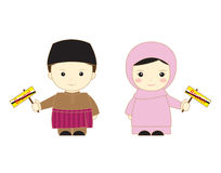 Asean dos desenhos animados de Brunei Darussalam Fotos de Stock Royalty Free