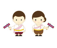 Asean dos desenhos animados de Camboja Foto de Stock Royalty Free