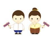 Asean dos desenhos animados de Tailândia Imagens de Stock